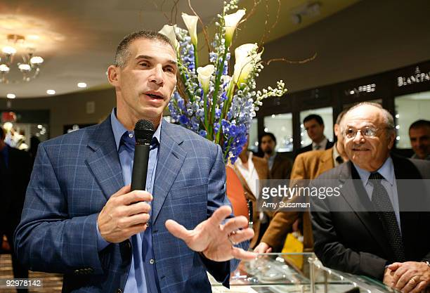Manager of the New York Yankees Joe Girardi speaks at the Manfredi Jewels launch of the NOA New York Yankees Joe Girardi Timepiece at Manfredi Jewels...