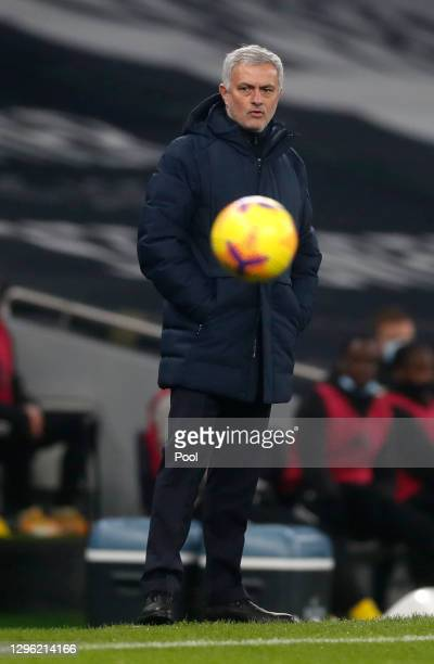 Manager of Tottenham Hotspur, Jose Mourinho watches on during the Premier League match between Tottenham Hotspur and Fulham at Tottenham Hotspur...