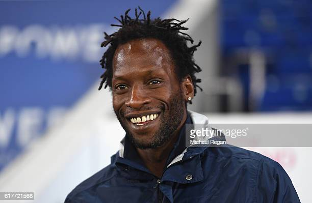 Manager of Tottenham Hotspur Ugo Ehiogu looks on during the Premier League 2 match between Leicester City and Tottenham Hotspur at The King Power...