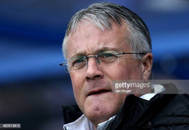 Manager of Tranmere Rovers Micky Adams looks on during the Sky Bet League Two match between Tranmere Rovers and Carlisle United at Prenton Park on...