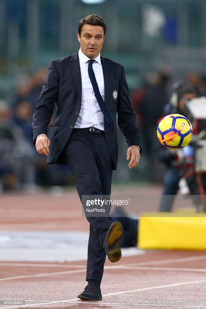 Manager of Udinese Massimo Oddo during the Serie A match ...
