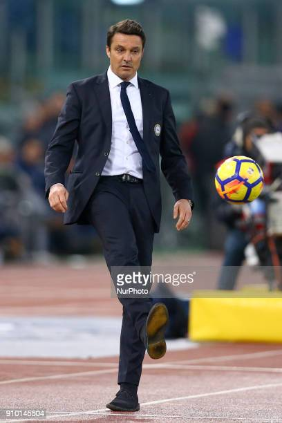 Manager of Udinese Massimo Oddo during the Serie A match between SS Lazio and Udinese Calcio on January 24 2018 in Rome Italy