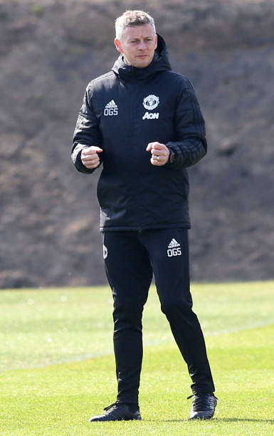 GBR: Manchester United Training Session and Press Conference