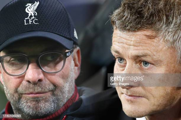 Manager Ole Gunnar Solskjaer of Manchester United looks on prior the UEFA Europa League group L match between Partizan and Manchester United at...