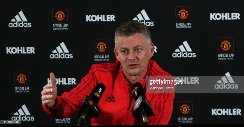 Manchester United Press Conference : Nachrichtenfoto