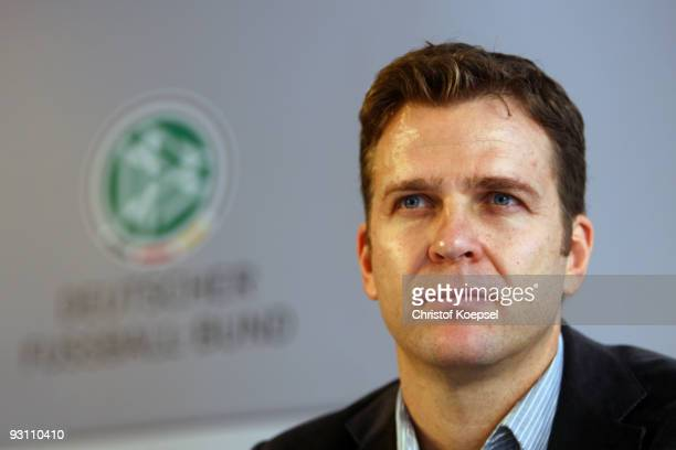 Manager Oliver Bierhoff of Germany attends a German National team press conference on November 17 2009 in Duesseldorf Germany