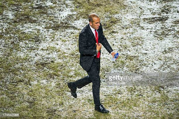 Manager Paolo Di Canio of Sunderland AFC walks on the pitch during the Barclays Asia Trophy Final match between Manchester City and Sunderland at...
