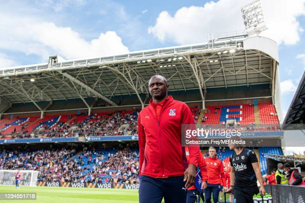 Manager Patrick Vieira of Crystal Palace during the Pre-Season Friendly between Crystal Palace and at Selhurst Park on August 7, 2021 in London,...