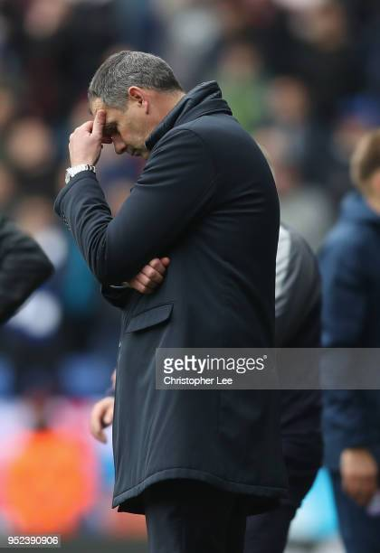 Manager Paul Clement of Reading looks dejected after a shot goes wide during the Sky Bet Championship match between Reading and Ipswich Town at...