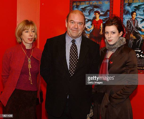 U2 manager Paul McGuinness his wife and daughter attend the premiere of Frida at UGC February 17 2003 Dublin Ireland