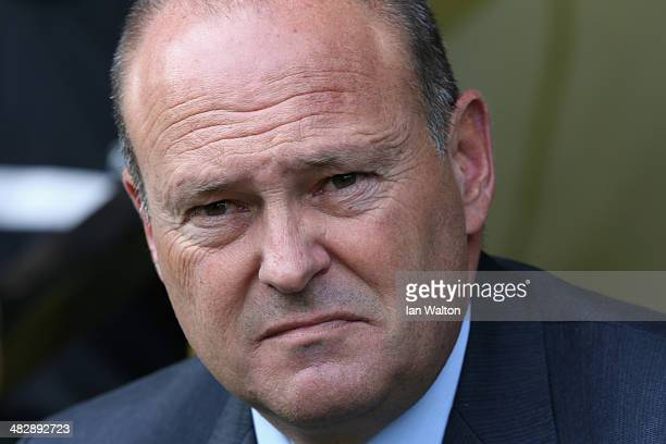 Manager Pepe Mel of West Brom looks on prior to the Barclays Premier League match between Norwich City and West Bromwich Albion at Carrow Road on...