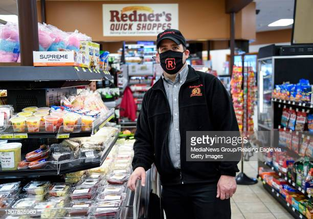 Manager Pete Ostrowski at the Redner's Quick Shoppe on Tuckerton Road in Muhlenberg township Thursday afternoon March 18, 2021.