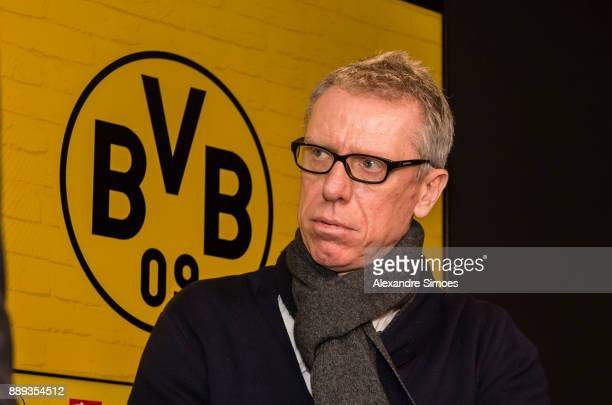 Manager Peter Stoeger is presented as the new head coach of Dortmund during the press conference at Signal Iduna Park on December 10 2017 in Dortmund...
