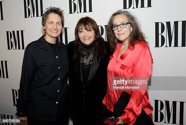 Manager Renata Kanclerz Coleman BMI Vice President Film/TV Relations Doreen RingerRoss composer Lisa Kanclerz Coleman attend the 2014 BMI Film/TV...