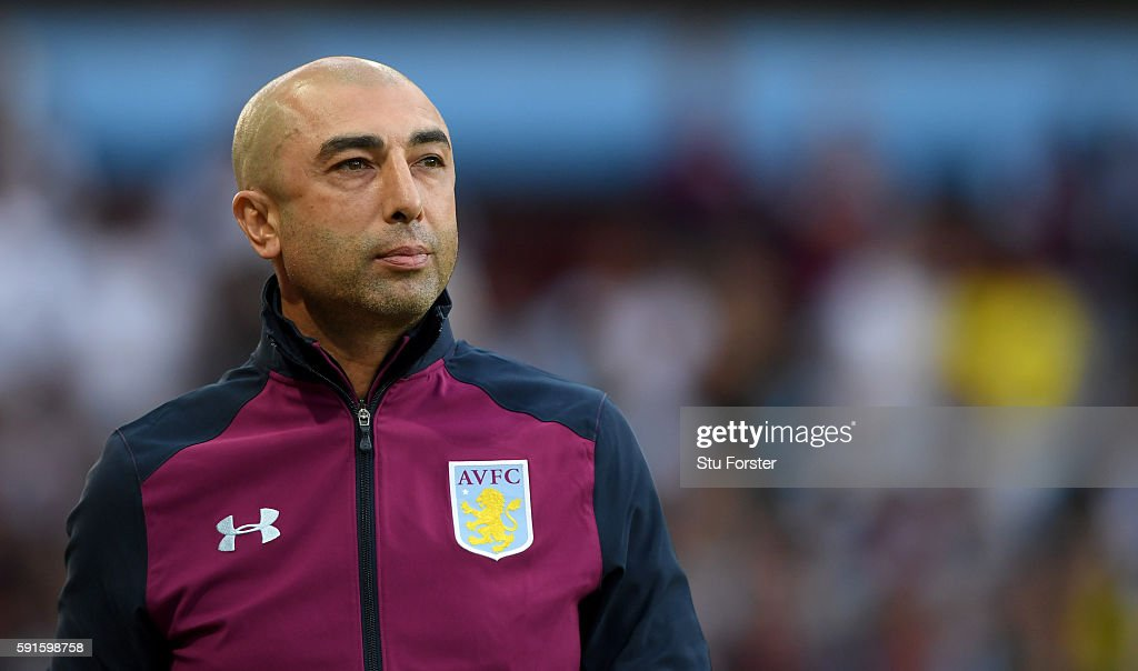 Manager Roberto di Matteo of Villa looks on during the Sky Bet Championship match between Aston Villa and Huddersfield Town at Villa Park on August 16, 2016 in Birmingham, England.