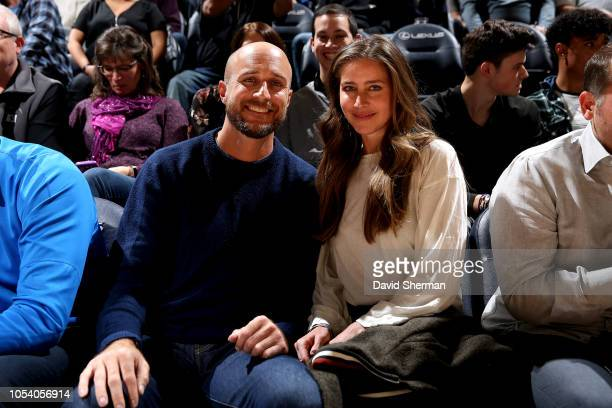 Manager Rocco Baldelli of Minnesota Twins is seen at the game between the Milwaukee Bucks and the Minnesota Timberwolves on October 26 2018 at Target...