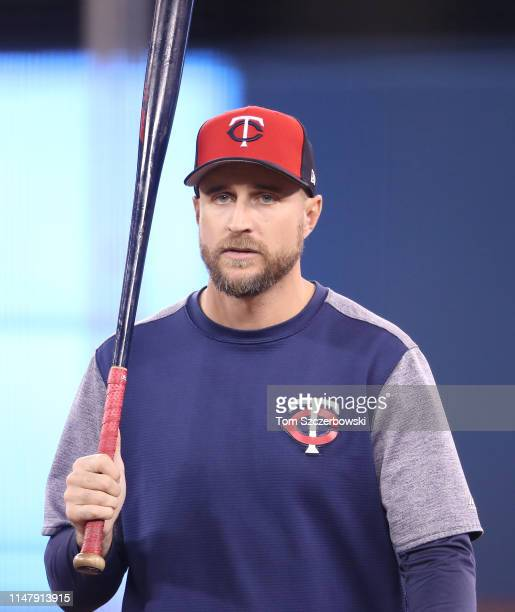 Manager Rocco Baldelli of the Minnesota Twins during batting practice before the start of MLB game action against the Toronto Blue Jays at Rogers...