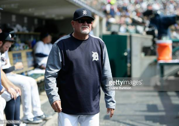 Manager Ron Gardenhire of the Detroit Tigers during a game against the Kansas City Royals at Comerica Park on April 6 2019 in Detroit Michigan