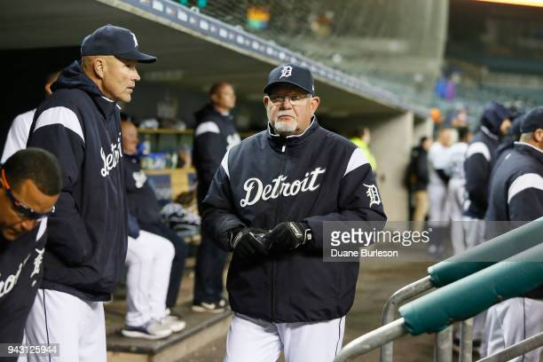 Manager Ron Gardenhire of the Detroit Tigers during game two of a doubleheader against the Pittsburgh Pirates at Comerica Park on April 1 2018 in...