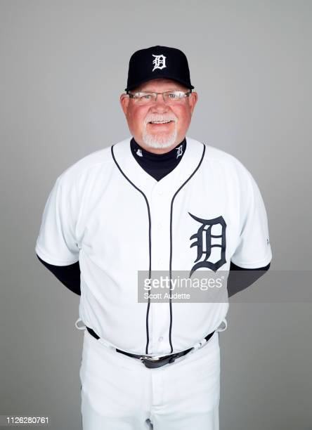 Manager Ron Gardenhire of the Detroit Tigers poses during Photo Day on Tuesday February 19 2019 at Publix Field at Joker Marchant Stadium in Lakeland...