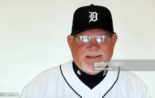 Manager Ron Gardenhire of the Detroit Tigers poses for a portrait during photo day at Publix Field at Joker Marchant Stadium on February 19 2019 in...