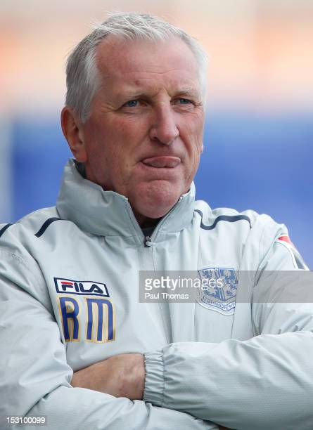 Manager Ronnie Moore of Tranmere during the npower League One match between Tranmere Rovers and Brentford at Prenton Park on September 29 2012 in...