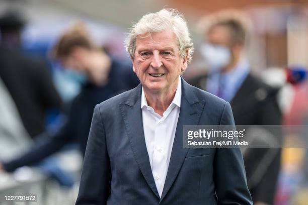 manager Roy Hodgson of Crystal Palace looks on during the Premier League match between Crystal Palace and Tottenham Hotspur at Selhurst Park on July...