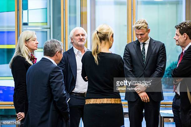 Manager Rudi Voeller of Bayer Leverkusen attends the decision of DFB Court on the objection to the length of a 3 match ban in the DFB Cup which was...