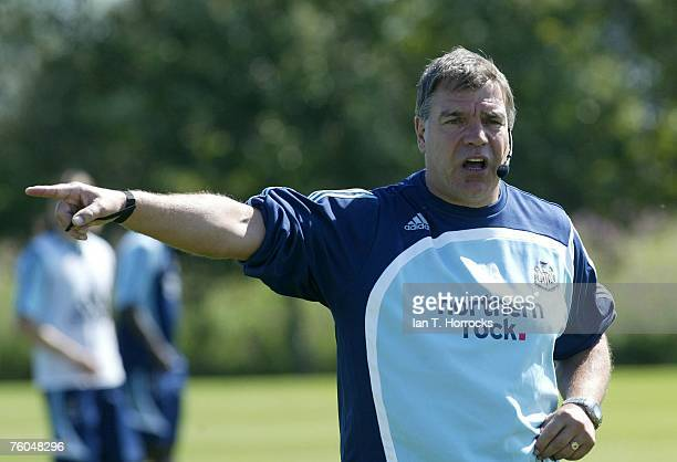 Manager Sam Allardyce attends a Newcastle United training session at The Newcastle United training centre in Little Benton, Newcastle upon tyne, on...