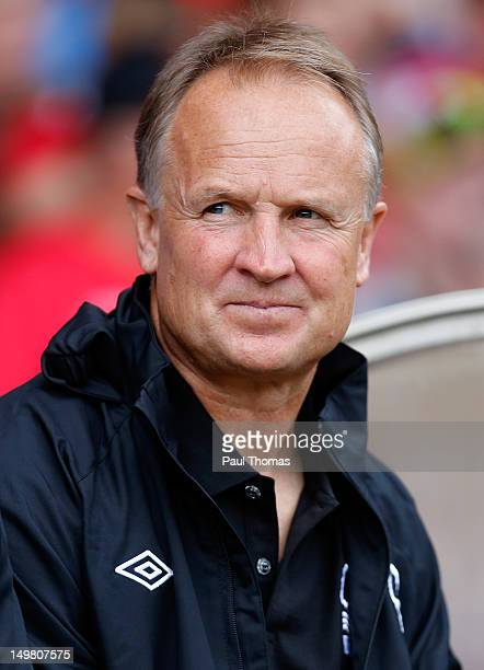 Manager Sean O'Driscoll of Nottingham Forest during the preseason friendly match between Nottingham Forest and Aston Villa at the City Ground on...