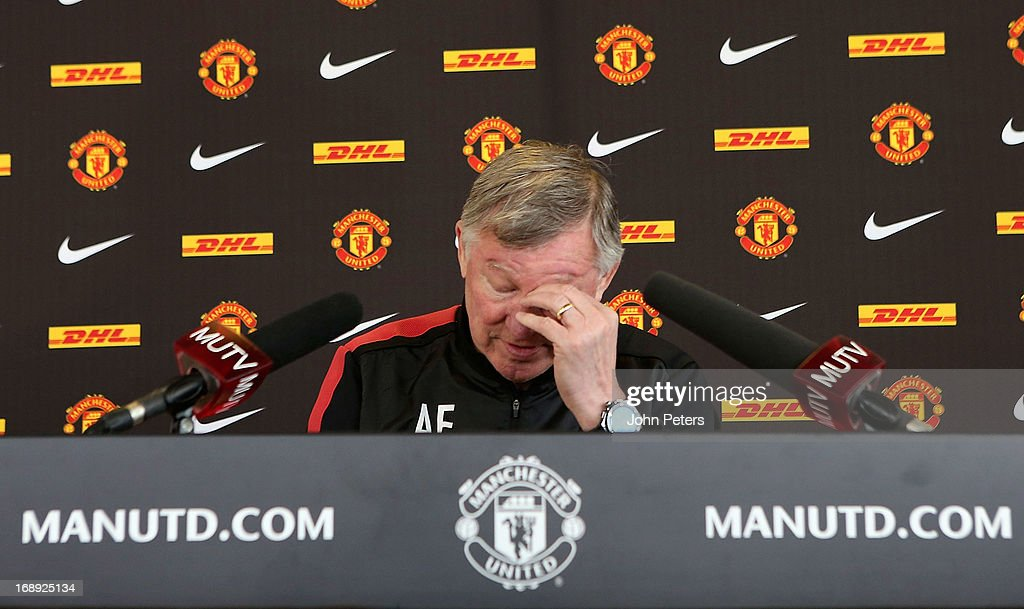 Sir Alex Ferguson Gives Final Press Conference As Manchester United Manager : News Photo