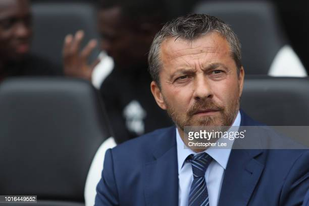 Manager Slavisa Jokanovic of Fulham on the bench during the Premier League match between Fulham FC and Crystal Palace at Craven Cottage on August 11...