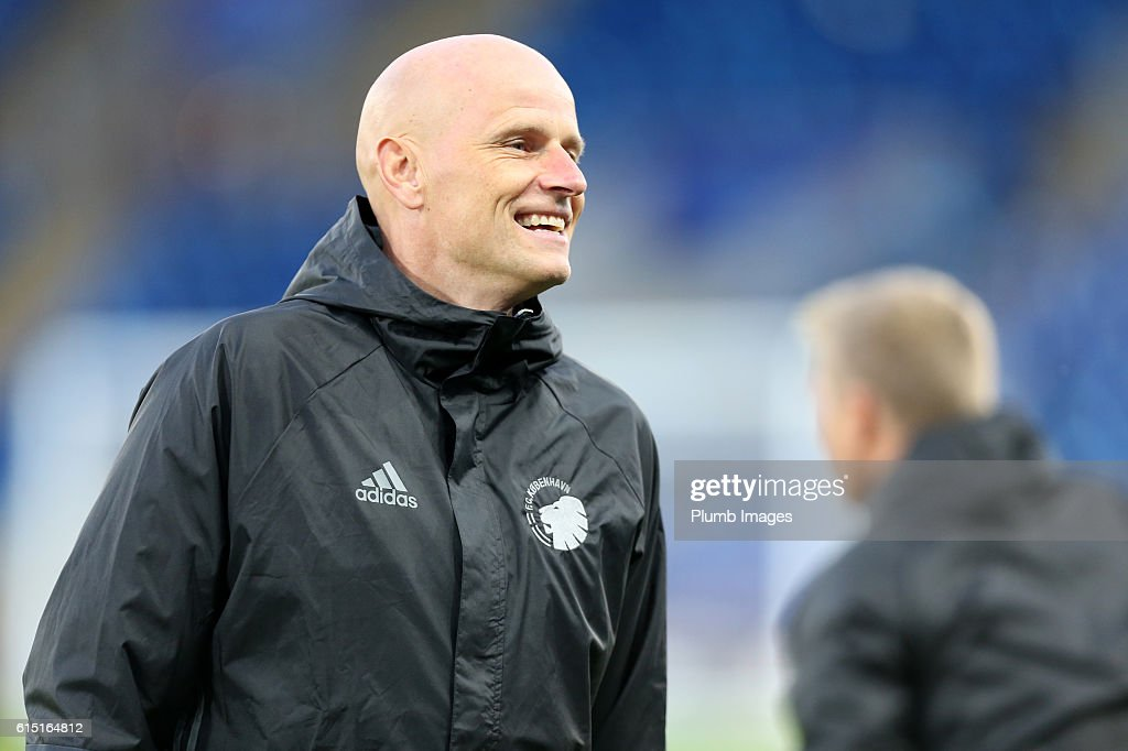 FC Copenhagen Training Session and Press Conference : News Photo