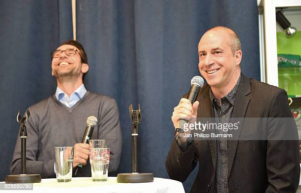 """Manager Stefan """"Paule"""" Beinlich during the Talks on April 28, 2016 in Berlin, Germany."""