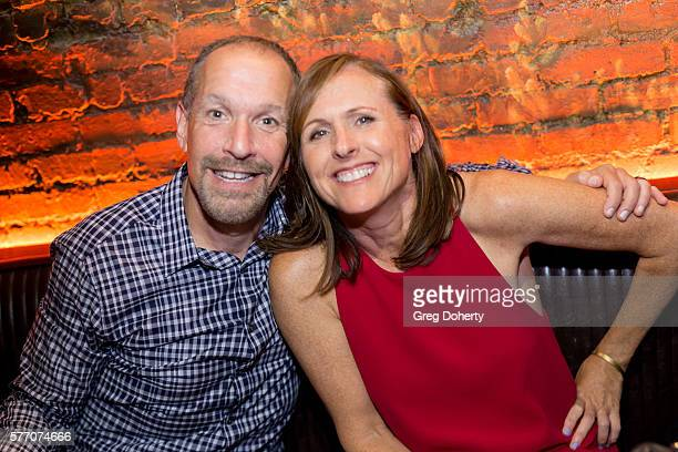"""Manager Steven Levy and Actress Molly Shannon pose for a picture at the 2016 Outfest Los Angeles Closing Night Gala Of """"Other People"""" After Party at..."""