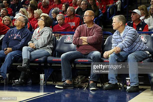 Manager Terry Francona of the Cleveland Indians attends the college basketball game between the Arizona Wildcats and the Bradley Braves at McKale...