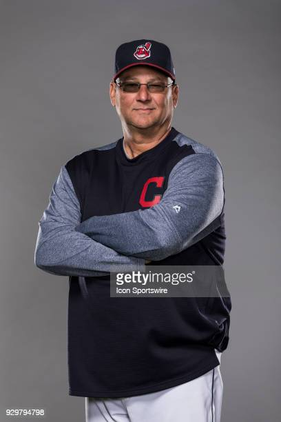 Manager Terry Francona poses for a photo during the Cleveland Indians photo day on Wednesday Feb 21 2018 at Goodyear Ballpark in Goodyear Ariz