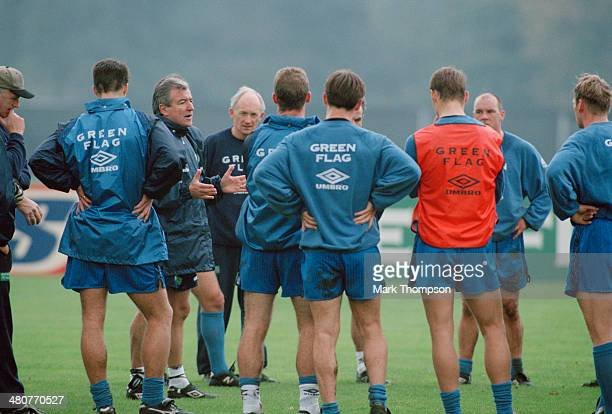 Manager Terry Venables at a training session of the England national football team at the Bisham Abbey sports centre in Berkshire 10th November 1995