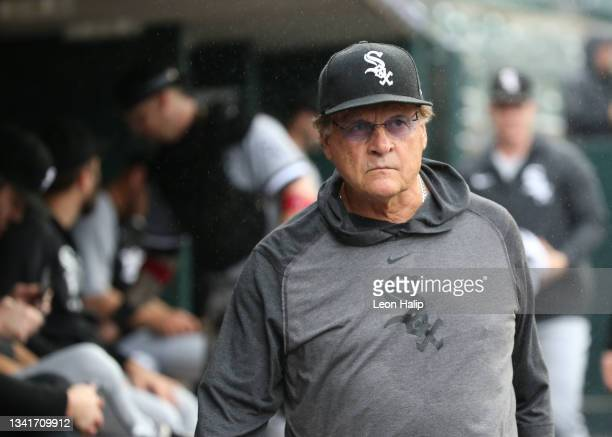 Manager Tony La Russa of the Chicago White Sox watches the action during the second inning of the game against the Detroit Tigers at Comerica Park on...
