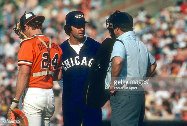 Manager Tony LaRussa of the Chicago White Sox argues with the home plate umpire during an Major League Baseball game against the Baltimore Orioles...