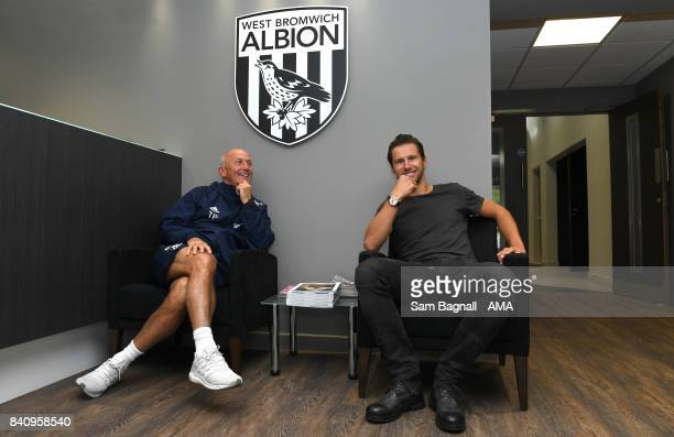 Manager Tony Pulis unveils Grzegorz Krychowiak as a West Bromwich Albion player at their training ground on August 30 2017 in West Bromwich England