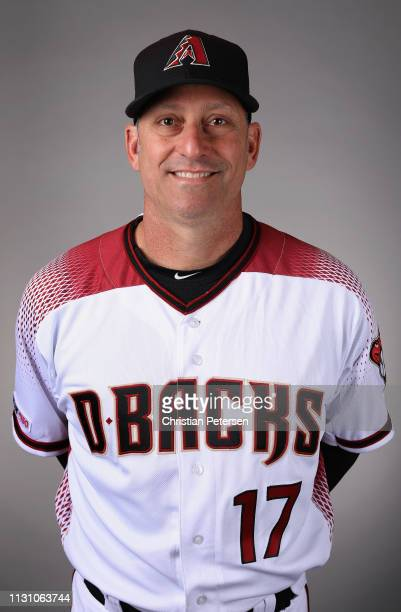 Manager Torey Lovullo of the Arizona Diamondbacks poses for a portrait during photo day at Salt River Fields at Talking Stick on February 20 2019 in...