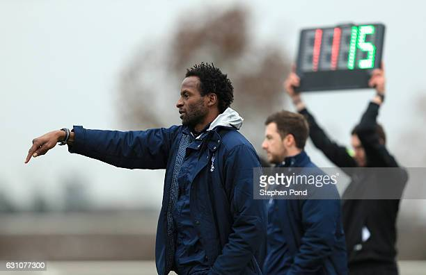 Manager Ugo Ehiogu of Tottenham Hotspur during the Premier League 2 match between Tottenham Hotspur and Chelsea on January 6 2017 in Enfield England