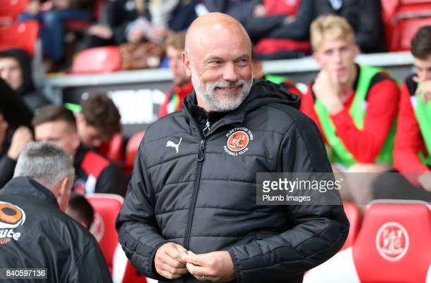 Manager Uwe Rosler of Fleetwood Town at Highbury Stadium ahead of the Checkatrade Trophy tie between Fleetwood Town and Leicester City at Highbury...