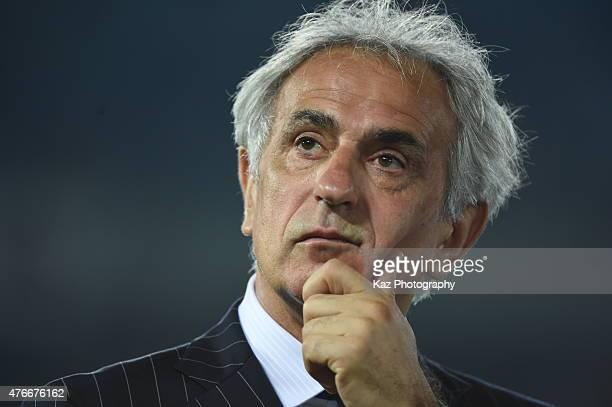 Manager Vahid Halilhodzic of Japan during the international friendly match between Japan and Iraq at Nissan Stadium on June 11 2015 in Yokohama Japan
