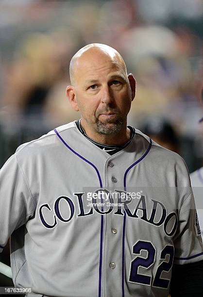Manager Walt Weiss of the Colorado Rockies walks through the dugout prior to the game against against the Arizona Diamondbacks at Chase Field on...