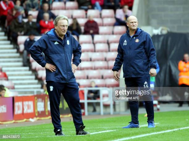 managers Neil Warnock of Cardiff and Simon Grayson of Sunderland during the Sky Bet Championship match between Sunderland and Cardiff City at Stadium...