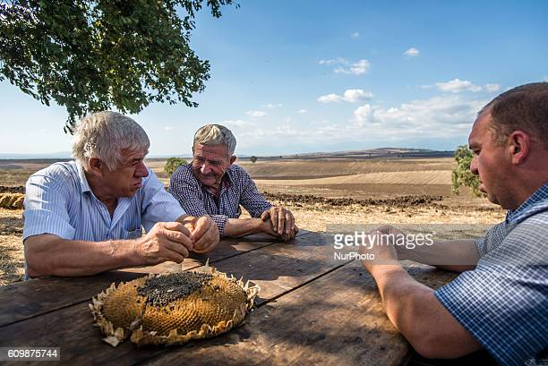 Managers of the Nikitin kolkhoz at Ivanovka village Azerbaijan Ivanovka is a village with mainly Russian population which maintained last kolkhoz in...