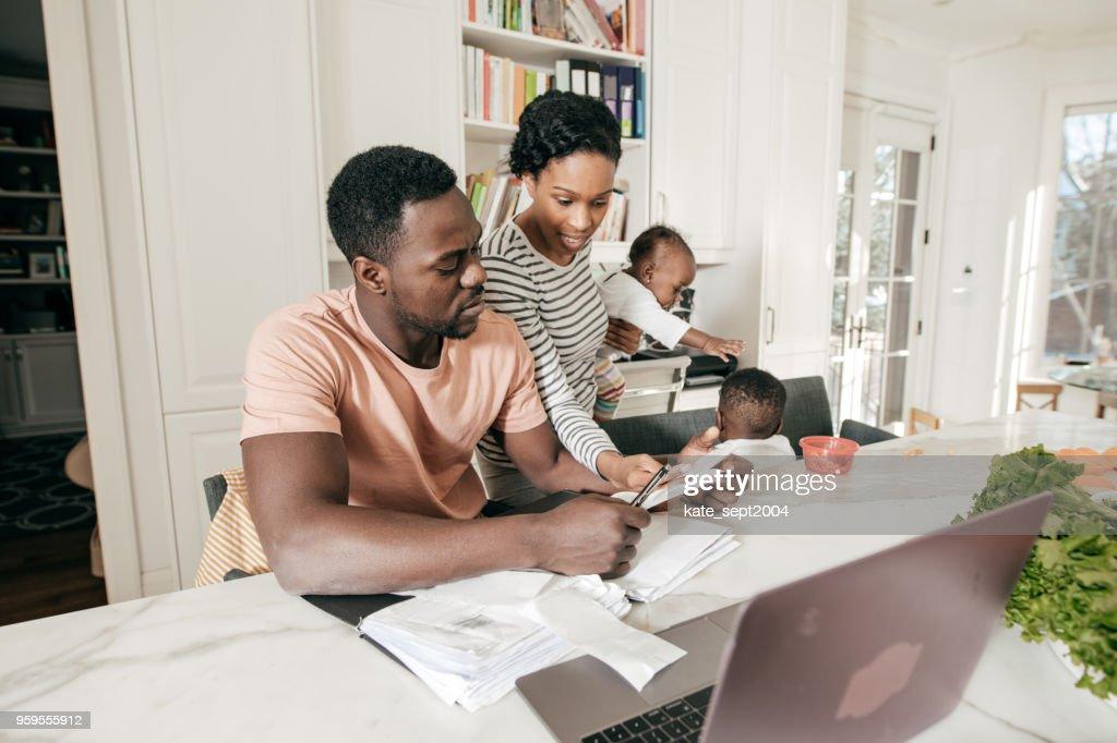 Verwaltung eines Familienunternehmens : Stock-Foto