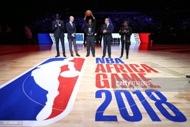 Managing Director Africa Amadou Gallo Fall NBA Commissioner Adam Silver Tokyo Sexwale Nelson Mandela Foundation FIBA Secretary General Patrick...